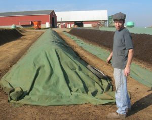 humus compost production at Penn Valley Farms