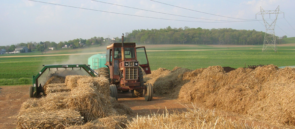 humus compost turned with aeromaster compost turner at penn valley farms