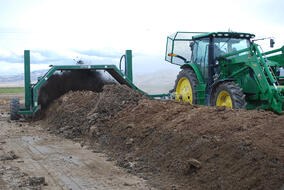 Aeromaster Compost Turner on Mark Webb's Farm