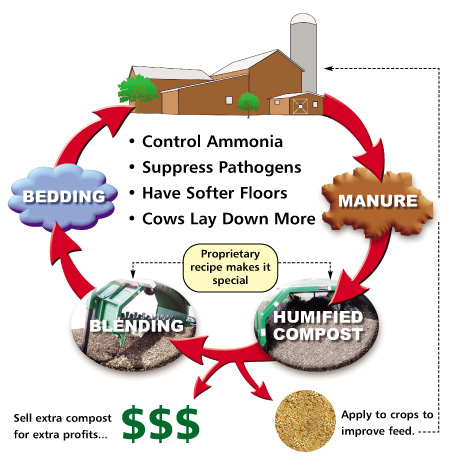 Recycling Dairy Bedding by composting