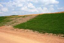 Michael Snipes has documented that his compost grows healthier grass slopes than commercial fertilizer. A major cost-savings, and the grass grows better!